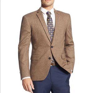 Jos A Bank Camel Hair Sport Coat Blazer 43R